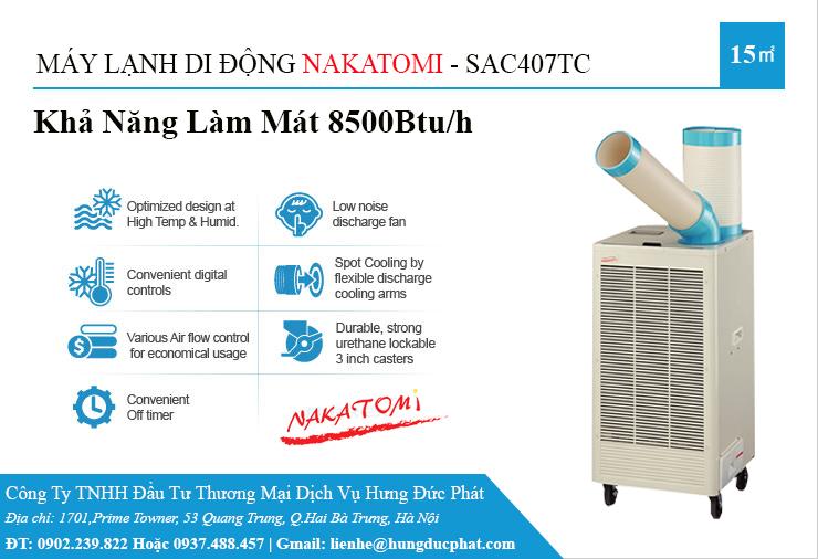 máy lạnh di động sac 407TC
